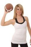 6橄榄球女孩 免版税图库摄影
