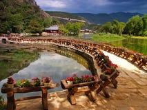 6瓷lijiang公园风景 免版税库存照片