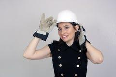 6美丽的建筑女性工作者 免版税库存照片