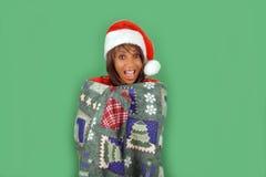 6美丽的辅助工s圣诞老人 免版税库存图片