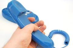 6蓝色电话 库存照片