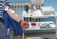 6血液特写镜头提取 免版税库存照片