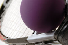 6设备短网拍墙球 免版税库存图片