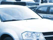 6辆汽车作用现代样式 库存照片