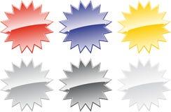 6金属星形 皇族释放例证