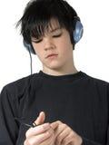 6青少年的音乐 免版税库存图片