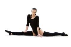 6黑色健身紧身连衣裤 免版税图库摄影