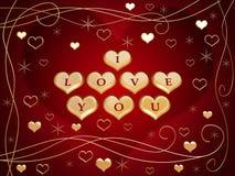 6 älskar jag dig Arkivfoto
