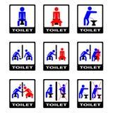 6 śmieszna szyldowa toaleta Zdjęcia Royalty Free