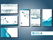 6 επαγγελματικές κάρτες Στοκ εικόνα με δικαίωμα ελεύθερης χρήσης