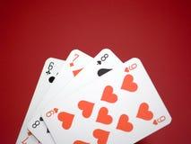 6 κάρτες Στοκ φωτογραφία με δικαίωμα ελεύθερης χρήσης