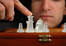 6 κομμάτια σκακιού Στοκ Εικόνες