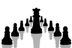 6 κομμάτια σκακιού απεικόνιση αποθεμάτων