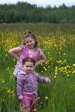 6 κορίτσια λουλουδιών στοκ φωτογραφία με δικαίωμα ελεύθερης χρήσης