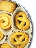 6 μπισκότα κιβωτίων Στοκ Φωτογραφία