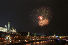 6 πυροτέχνημα Κρεμλίνο πλη&sig Στοκ φωτογραφία με δικαίωμα ελεύθερης χρήσης