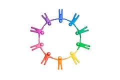 6 χρώματα που ενώνονται Στοκ Φωτογραφία