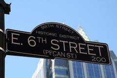 6-ая улица texas austin стоковое фото rf