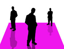 6 бизнесменов теней иллюстрация штока
