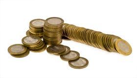 6 колонок монеток Стоковое Изображение RF
