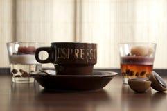 6 кофейных чашек Стоковая Фотография