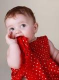 6 месяцев девушки младенца милых Стоковая Фотография