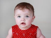 6 месяцев девушки младенца милых Стоковые Фотографии RF