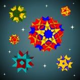 6 полиэдронов звезды Стоковые Изображения RF