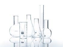 6 пустых flacks лаборатории Стоковое Изображение
