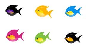 6 рыб шаржа Стоковое Изображение RF
