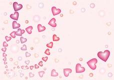 6 сердец nacreous Стоковое Изображение