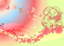 6 совсем вокруг бабочек Стоковое Изображение