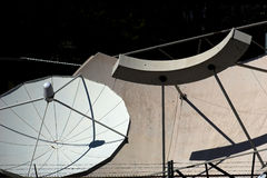 6 тарелок спутниковых Стоковое Изображение RF