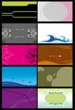 6 шаблонов визитных карточек Стоковое Изображение