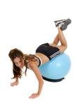 6 шариков тренировки деятельность женщины вне Стоковые Фото