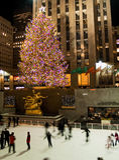 6 08 centrum lodowego lodowiska Rockefeller drzewo Fotografia Royalty Free