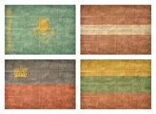 6 13 флагов европейца стран Стоковые Фотографии RF