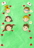 весна детей 6 предпосылки Стоковые Изображения RF