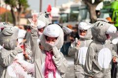 6 2011年狂欢节利马索尔行军 免版税库存图片