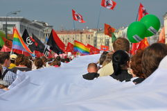 6 2012 marsh kan miljon moscow Arkivbilder
