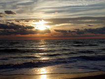 6海洋日出 库存照片