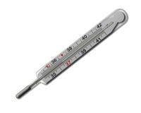 6 36查出水银的温度计 免版税库存图片