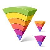 6, 4 et 2 formes posées de pyramide illustration stock