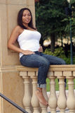 6 5 месяцев multiracial беременной женщины Стоковое Фото
