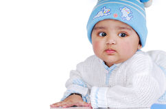 6 8个婴儿月 库存照片