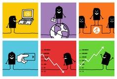 6个企业字符概念 免版税库存图片