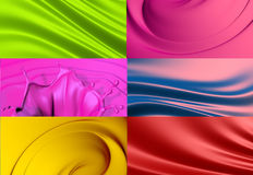 6 abstract backgrounds set Royalty Free Stock Photography