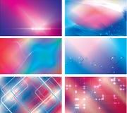 6 abstracte bedrijfs geplaatste achtergronden Stock Afbeeldingen