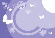 6 abstraktów motyl Obrazy Stock