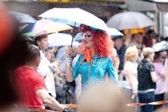 6 agosto, dia da rua de Christopher, Hamburgo, paridade alegre Imagens de Stock Royalty Free